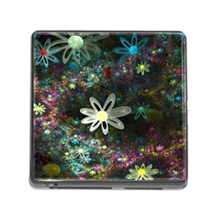 Flowers Fractal Bright 3840x2400 Memory Card Reader (square) by amphoto