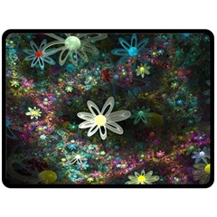 Flowers Fractal Bright 3840x2400 Fleece Blanket (large)  by amphoto
