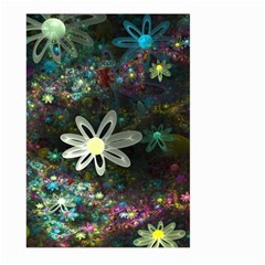 Flowers Fractal Bright 3840x2400 Large Garden Flag (two Sides) by amphoto
