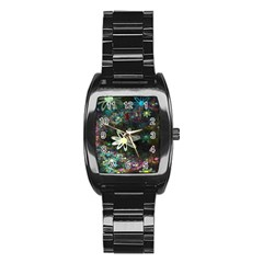 Flowers Fractal Bright 3840x2400 Stainless Steel Barrel Watch by amphoto