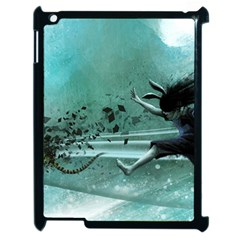 Running Abstraction Drawing  Apple Ipad 2 Case (black) by amphoto