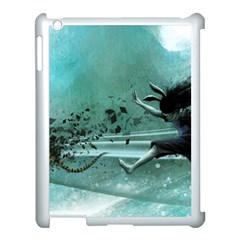 Running Abstraction Drawing  Apple Ipad 3/4 Case (white) by amphoto