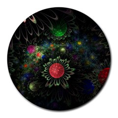 Shapes Circles Flowers  Round Mousepads by amphoto