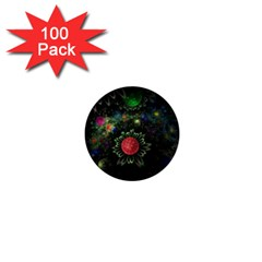 Shapes Circles Flowers  1  Mini Buttons (100 Pack)  by amphoto