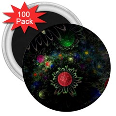 Shapes Circles Flowers  3  Magnets (100 Pack) by amphoto