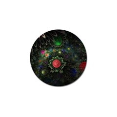 Shapes Circles Flowers  Golf Ball Marker by amphoto