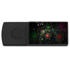 Shapes Circles Flowers  Rectangular Usb Flash Drive by amphoto