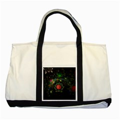 Shapes Circles Flowers  Two Tone Tote Bag by amphoto