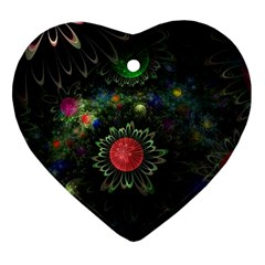 Shapes Circles Flowers  Heart Ornament (two Sides) by amphoto