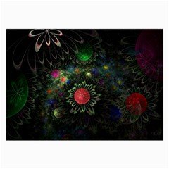 Shapes Circles Flowers  Large Glasses Cloth (2 Side) by amphoto