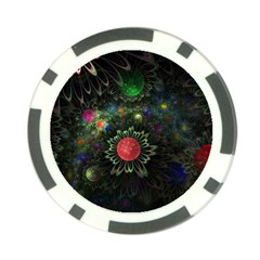 Shapes Circles Flowers  Poker Chip Card Guard by amphoto