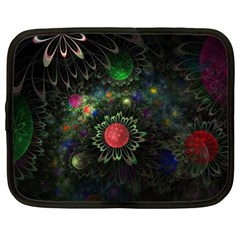 Shapes Circles Flowers  Netbook Case (large) by amphoto
