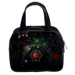 Shapes Circles Flowers  Classic Handbags (2 Sides) by amphoto