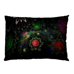 Shapes Circles Flowers  Pillow Case by amphoto