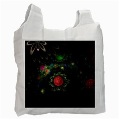 Shapes Circles Flowers  Recycle Bag (one Side) by amphoto