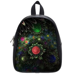 Shapes Circles Flowers  School Bag (small) by amphoto