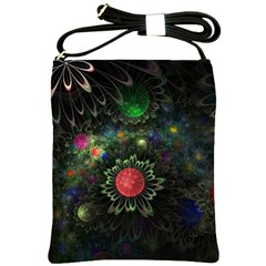 Shapes Circles Flowers  Shoulder Sling Bags by amphoto