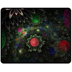 Shapes Circles Flowers  Fleece Blanket (medium)  by amphoto