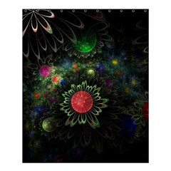 Shapes Circles Flowers  Shower Curtain 60  X 72  (medium)  by amphoto