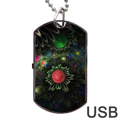 Shapes Circles Flowers  Dog Tag Usb Flash (two Sides) by amphoto