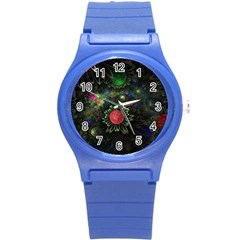 Shapes Circles Flowers  Round Plastic Sport Watch (s) by amphoto