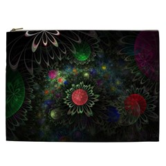 Shapes Circles Flowers  Cosmetic Bag (xxl)  by amphoto