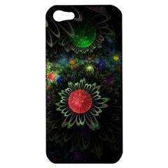 Shapes Circles Flowers  Apple Iphone 5 Hardshell Case by amphoto