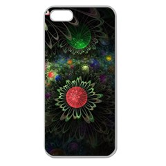Shapes Circles Flowers  Apple Seamless Iphone 5 Case (clear) by amphoto