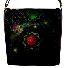 Shapes Circles Flowers  Flap Messenger Bag (s) by amphoto