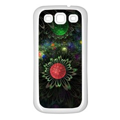 Shapes Circles Flowers  Samsung Galaxy S3 Back Case (white) by amphoto