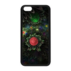 Shapes Circles Flowers  Apple Iphone 5c Seamless Case (black) by amphoto