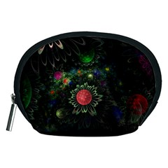 Shapes Circles Flowers  Accessory Pouches (medium)  by amphoto