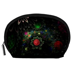 Shapes Circles Flowers  Accessory Pouches (large)  by amphoto