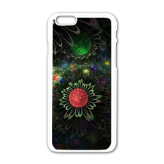 Shapes Circles Flowers  Apple Iphone 6/6s White Enamel Case by amphoto