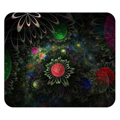 Shapes Circles Flowers  Double Sided Flano Blanket (small)  by amphoto