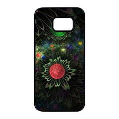 Shapes Circles Flowers  Samsung Galaxy S7 Edge Black Seamless Case by amphoto