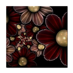 Flower Background Line Tile Coasters by amphoto