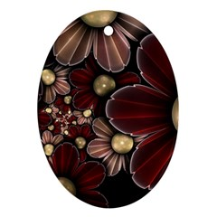 Flower Background Line Ornament (oval) by amphoto