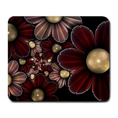 Flower Background Line Large Mousepads by amphoto
