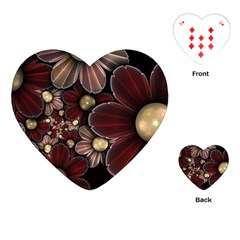 Flower Background Line Playing Cards (heart)  by amphoto