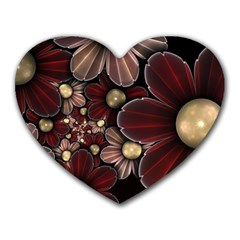 Flower Background Line Heart Mousepads by amphoto