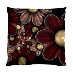 Flower Background Line Standard Cushion Case (two Sides) by amphoto