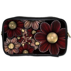 Flower Background Line Toiletries Bags 2 Side by amphoto