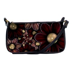 Flower Background Line Shoulder Clutch Bags by amphoto