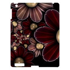 Flower Background Line Apple Ipad 3/4 Hardshell Case by amphoto