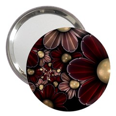 Flower Background Line 3  Handbag Mirrors by amphoto