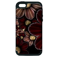 Flower Background Line Apple Iphone 5 Hardshell Case (pc+silicone) by amphoto