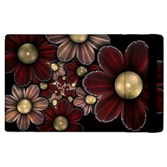 Flower Background Line Apple Ipad 2 Flip Case by amphoto