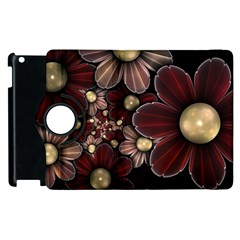 Flower Background Line Apple Ipad 3/4 Flip 360 Case by amphoto