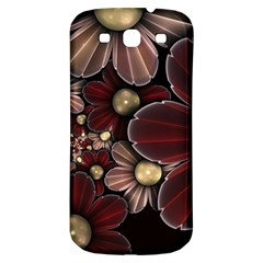 Flower Background Line Samsung Galaxy S3 S Iii Classic Hardshell Back Case by amphoto